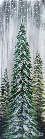 Rustic snowy evergreens, Step by Step Instructions