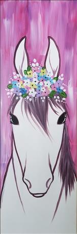10x30 Canvas! Flower Crown Mare