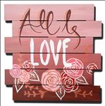 PUBLIC PARTY All Is Love Square Canvas or Wooden!