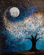 "FAMILY IN TOWN? Come Paint ""Snowy Night Glow"""
