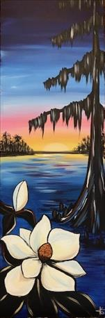 "Customer Fave!""Magnolia Sunrise"" on 10x30in Canvas"