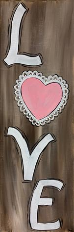 Love on Our 10x30 Canvas
