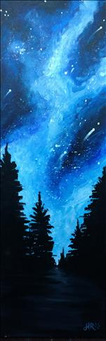 Forest Of Stars (10x30 canvas)