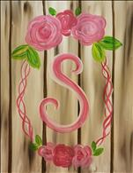 Simple Monogram Wreath