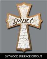 Words of Grace (on 'Wooden' Cutout)