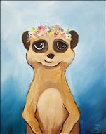 TEENS & UP - Flower Crown Meerkat