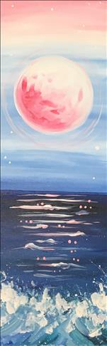 *10x30in CANVAS* Pink Moon