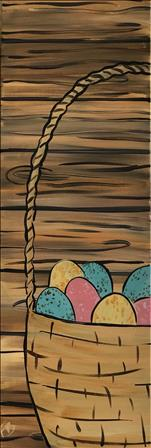 Tall Rustic Easter Basket