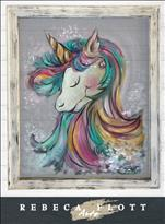 Rebeca Flott Screen Art - Bubblie Unicorn