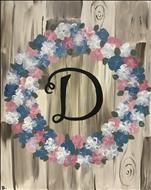 PERSONALIZE-Rustic Floral Wreath Monogram