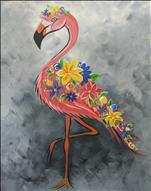Coffee & Canvas Floral Flamingo