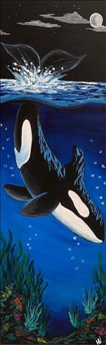 WEEKEND WINE DOWN - Deep Blue Orca - LONG CANVAS