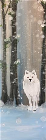 COFFEE and CANVAS - Snowy White Wolf