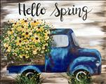 New Art! Rustic Sunflower Truck