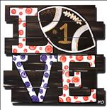 Choose Your Colors! Football Love Pallet