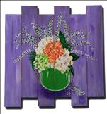 Spring Bouquet - Wood Pallet