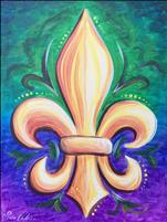 OPEN STUDIO SPOTLIGHT! Colorful Fleur de Lis
