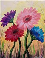 Gerbera Daisies on Yellow (Ages 12+)