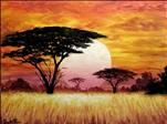 NEW Art: Sunset in Tanzania