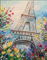Paris In Springtime With Flowers