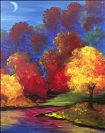 Purple Hillside with Fall Trees - Adults Only