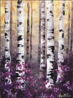 "NEW Coffee & Canvas Art! ""Purple Birches"""