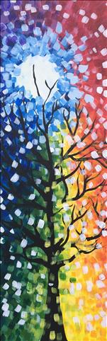 **10x30 LONG CANVAS** Rainbow Tree
