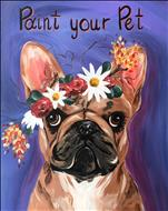 Flower Crown Paint Your Pet - French Bulldog