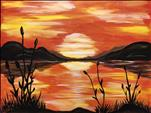 COFFEE & CANVAS: Cattail Sunset: Teens & Adults