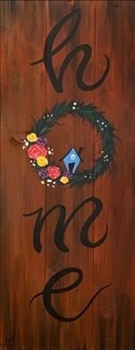 NEW! - Home Wreath - PINE WOOD BOARD
