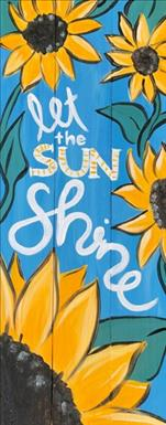 Let the Sun Shine 10x30 canvas