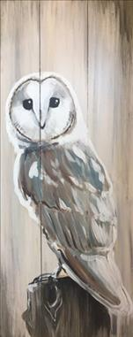"""Rustic Barn Owl"" Real Wood Board!"