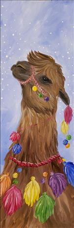 NEW! - Adorned Llama, II - LONG CANVAS