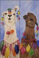 **YOUR CHOICE! 10x30 LONG CANVAS** Adorned Llamas