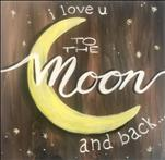 To the Moon on 12 x 12 Canvas