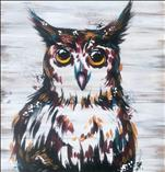 Rustic Owl Real Wood Board