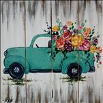 Rustic Spring Truck on canvas or Wood