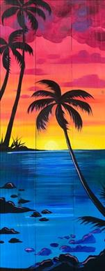 Sunset Over Maui | Plank Board or Canvas