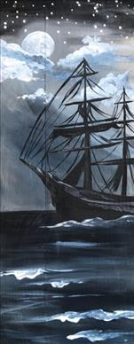 Blackbeard's Moonlight Run Real Wood Or Canvas
