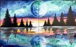 Celestial Moon-Single Canvas or Couples!