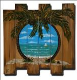 Wooden Pallet! Tropical Tranqulity!