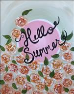 "Manic Monday ""Hello Summer"" Bloom Sign"