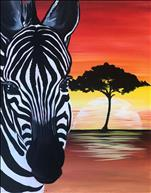 Zebra Sunset (Age 13+)