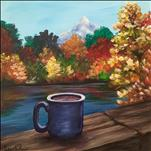 Afternoon Art-Perfection in a Cup (canvas or wood)
