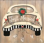 Perfect Gift! Just Married Real Wood Board 2hr $45