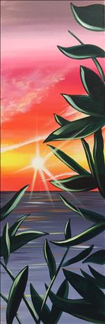 Vibrant Tropical Sunset 10X30 NEW ART! 12+