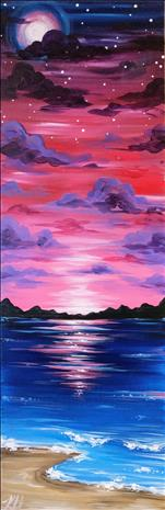 Twilight Beach on 10x30 CANVAS!