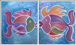 Mommy + Me Fish Kisses-Paint as a set or solo!