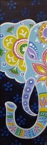 **MANIC MONDAY**TALL CANVAS-Bohemian Elephant $35