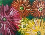 COFFEE & CANVAS: Colorful Daisies: Adults & Teens